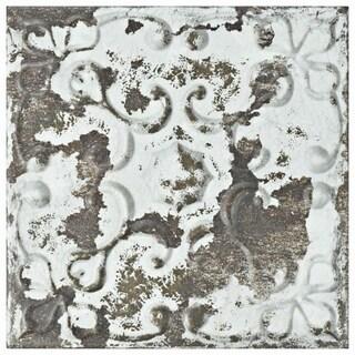 SomerTile 7.875x7.875-inch Aeon Dark Ornato Ceramic Wall Tile (21 tiles/9.63 sqft.)