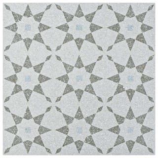 Somertile 11 5x11 5 Inch Piacenza Aventino Humo Porcelain Floor And Wall Tile