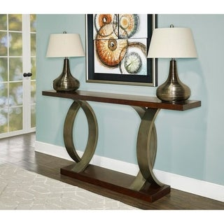 Powell Miles Brown Wooden Console