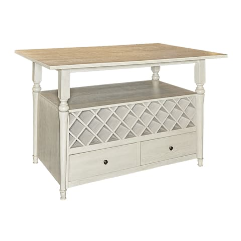 Powell Hayes White Wood Counter Table