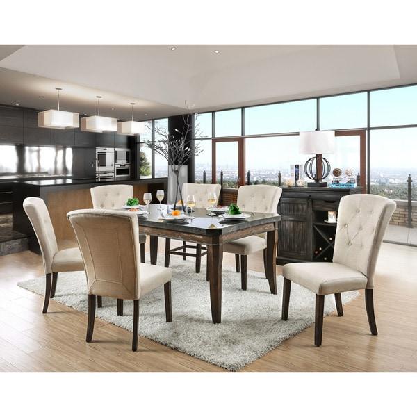 Shop Furniture Of America Leliean Transitional 7-piece