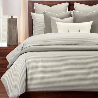 Revolution Plus Everlast Stripe Greige Stain Resistant Duvet Set