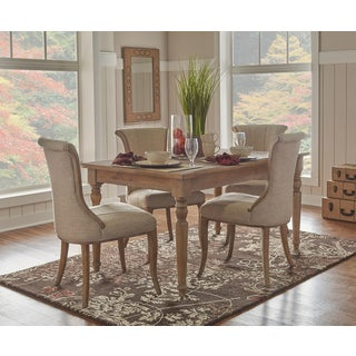 Linon Jayla Light Natural Brown Wood/ Metal Table
