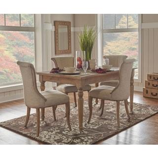 linon jayla light natural brown wood metal table