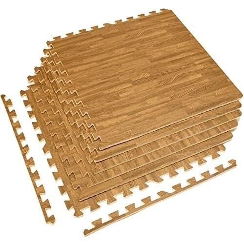 On Your Feet Interlocking Floor Mat - Light Wood Grain Pr...
