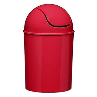 Red Umbra Mini Recycled Polypropylene Waste Can