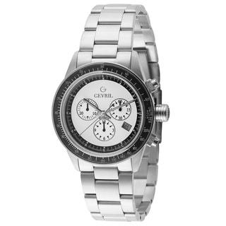 Gevril Men's Swiss Quartz Chronograph Stainless steel Bracelet Watch