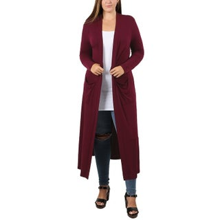JED Women's Plus Size Maxi Cardigan with Pockets (2 options available)