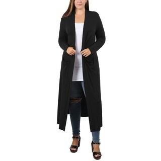 JED Women's Plus Size Maxi Cardigan with Pockets