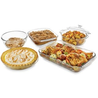 Libbey Baker's Basics 5-piece Glass Bake Set with Cover