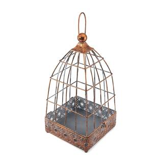 Elements 16 Inch Copper Square Metal Birdcage