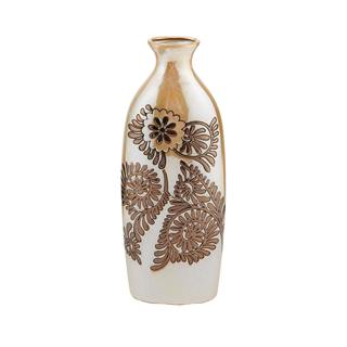 Elements 14.20 Inch Ceramic Bronze Suzani Vase