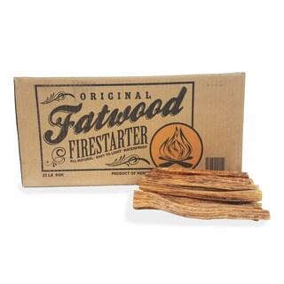 Fatwood Firestarter Kindling Sticks  Quickstart Tinder by Pure Garden, 25 lb. Box