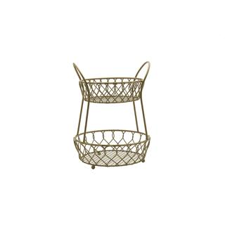 Mikasa Gourmet Basics Loop And Lattice 2 Tier Round Basket|https://ak1.ostkcdn.com/images/products/18588652/P24690012.jpg?impolicy=medium
