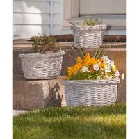 Gray Willow Baskets, 3/set