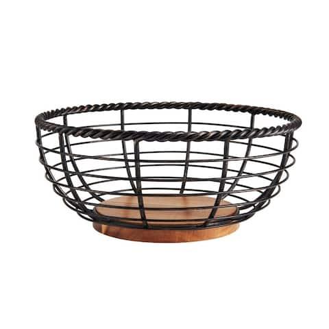 Mikasa Gourmet Basics Fruit Basket Rope Round