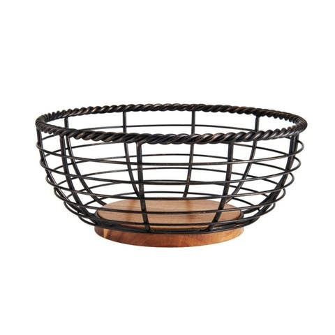 Gourmet Basics by Mikasa Fruit Basket Rope Round