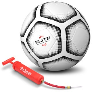 GoSports Elite Match Soccer Ball - Professional Tier Ball, Size 5 with Bonus Air Pump - Single or 6 Pack