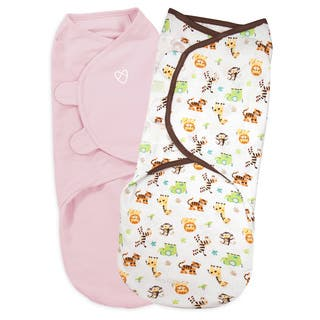 Summer Infant Kiddopotamus SwaddleMe Cotton - 2 Pack - Large - Pink/Graphic https://ak1.ostkcdn.com/images/products/18589057/P24690395.jpg?impolicy=medium