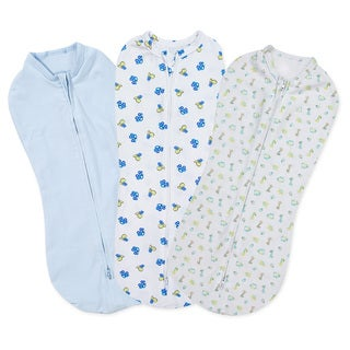 Summer Infant 3 Pack SwaddlePod Cotton Spandex Blend, Dino