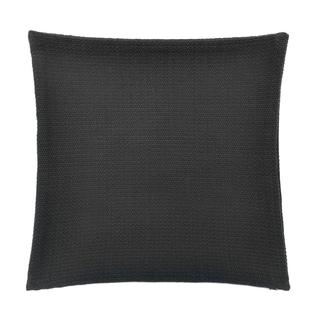 "FlatIron Textured Charcoal Basketweave 18"" Square Decorative Pillow"