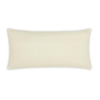 "FlatIron Textured Oatmeal Diagonal Weave 10""W x 22""L Decorative Pillow"