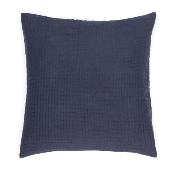 "FlatIron Textured Indigo Multiwoven 14""W x 22""L Decorative Pillow"