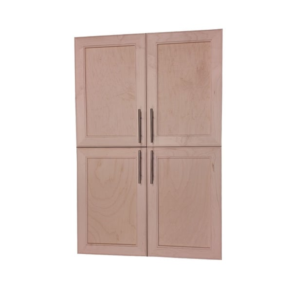 Frameless Kitchen Cabinets: Shop Village BP Recessed Four Door Frameless Pantry