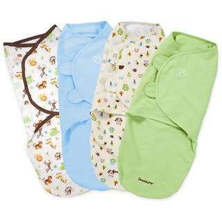 Summer Infant Swaddleme 100% Cotton Knit - 4 Pack, Jungle Fun (Large) https://ak1.ostkcdn.com/images/products/18589082/P24690403.jpg?impolicy=medium