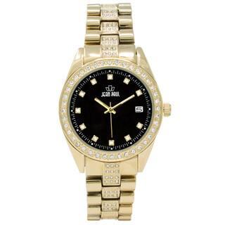 Dakota Jean Paul Men's 44mm Gold Big Bling Jeweled Watch|https://ak1.ostkcdn.com/images/products/18589469/P24690748.jpg?impolicy=medium