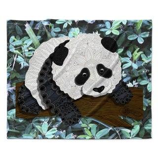 "KESS InHouse Art Love Passion ""Panda"" Fleece Blanket - 80"" x 60"""