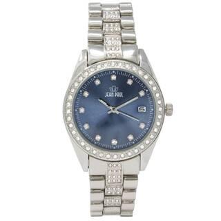 Dakota Jean Paul Men's Silver 44mm Big Bling Jeweled Watch|https://ak1.ostkcdn.com/images/products/18589502/P24690749.jpg?impolicy=medium