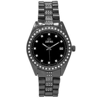 Dakota Jean Paul Men's Black 44mm Big Bling Jeweled Watch