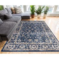 """Well Woven Vintage Distressed Timeless Border Area Rug - 7'10"""" x 9'10"""""""