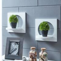 Danya B. Set of 2 Silhouette Shelves-White