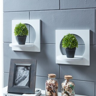 Danya B. Set of 2 Silhouette Shelves-White