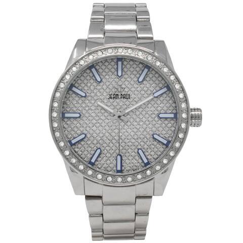 Dakota Jean Paul Mens Pave Big Bling Oversized 52mm Jeweled Watch