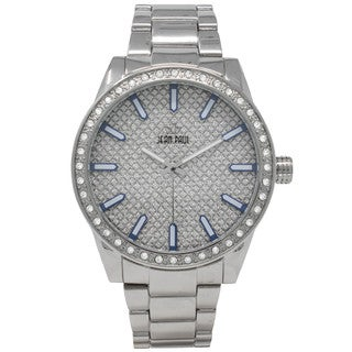 Dakota Jean Paul Mens Pave Big Bling Oversized 52mm Jeweled Watch