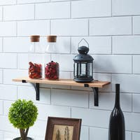 Danya B. Pine Shelf with Metal Brackets
