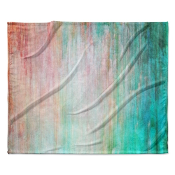 Shop Kess Inhouse Iris Lehnhardt Color Wash Teal Fleece Blanket