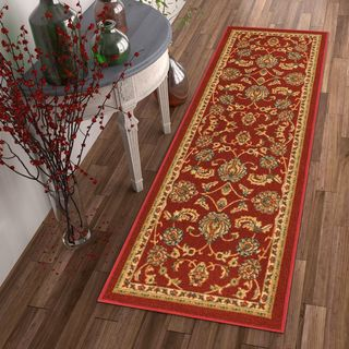 "Well Woven Traditional Sarouk Non-Skid Backing Runner Rug - 2'8"" x 12'"