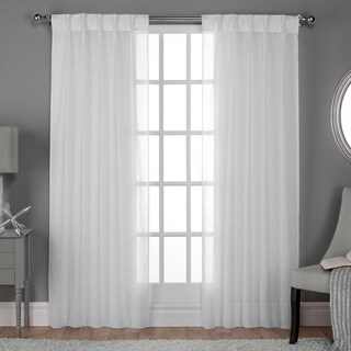 ATI Home Belgian Jacquard Sheer Double Pinch Pleat Top Curtain Panel Pair (More options available)