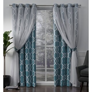 ATI Home Carmela Thermal Woven Blackout Grommet Top Curtain Panel Pair