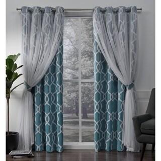 ATI Home Carmela Thermal Woven Blackout Grommet Top Curtain Panel Pair