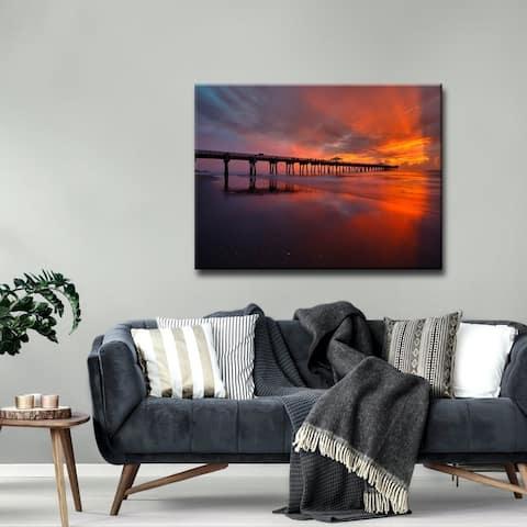 Ready2HangArt 'Sky Ablaze' Coastal Canvas Wall Art