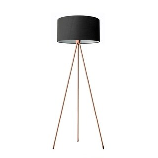 Lumenno Mid-century 1-light Black Tripod Floor Lamp