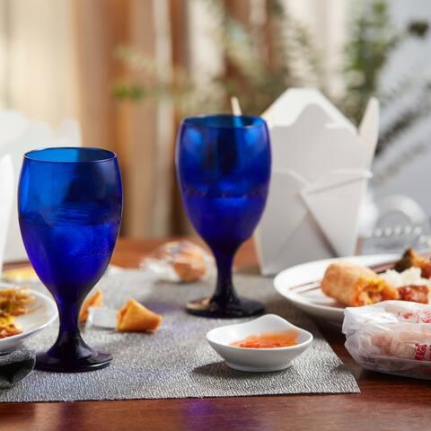 Libbey Premiere Cobalt Iced Tea Goblet Beverage Glasses, Set of 12