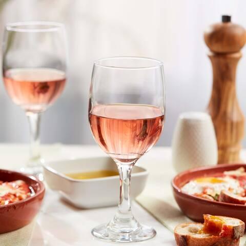 Libbey Claret White Wine Glasses, Set of 8
