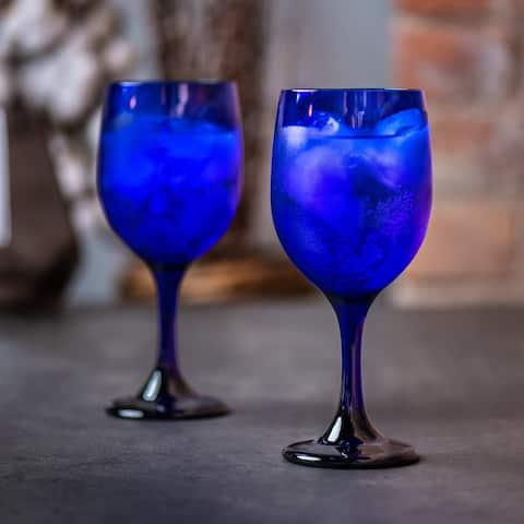 Libbey Premiere Cobalt Wine Glasses, Set of 12