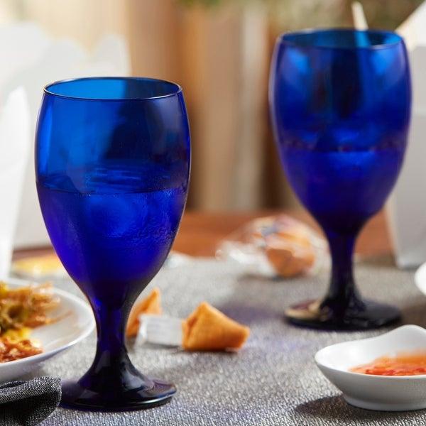 Libbey Premiere 12-piece Cobalt Goblet Glass Set
